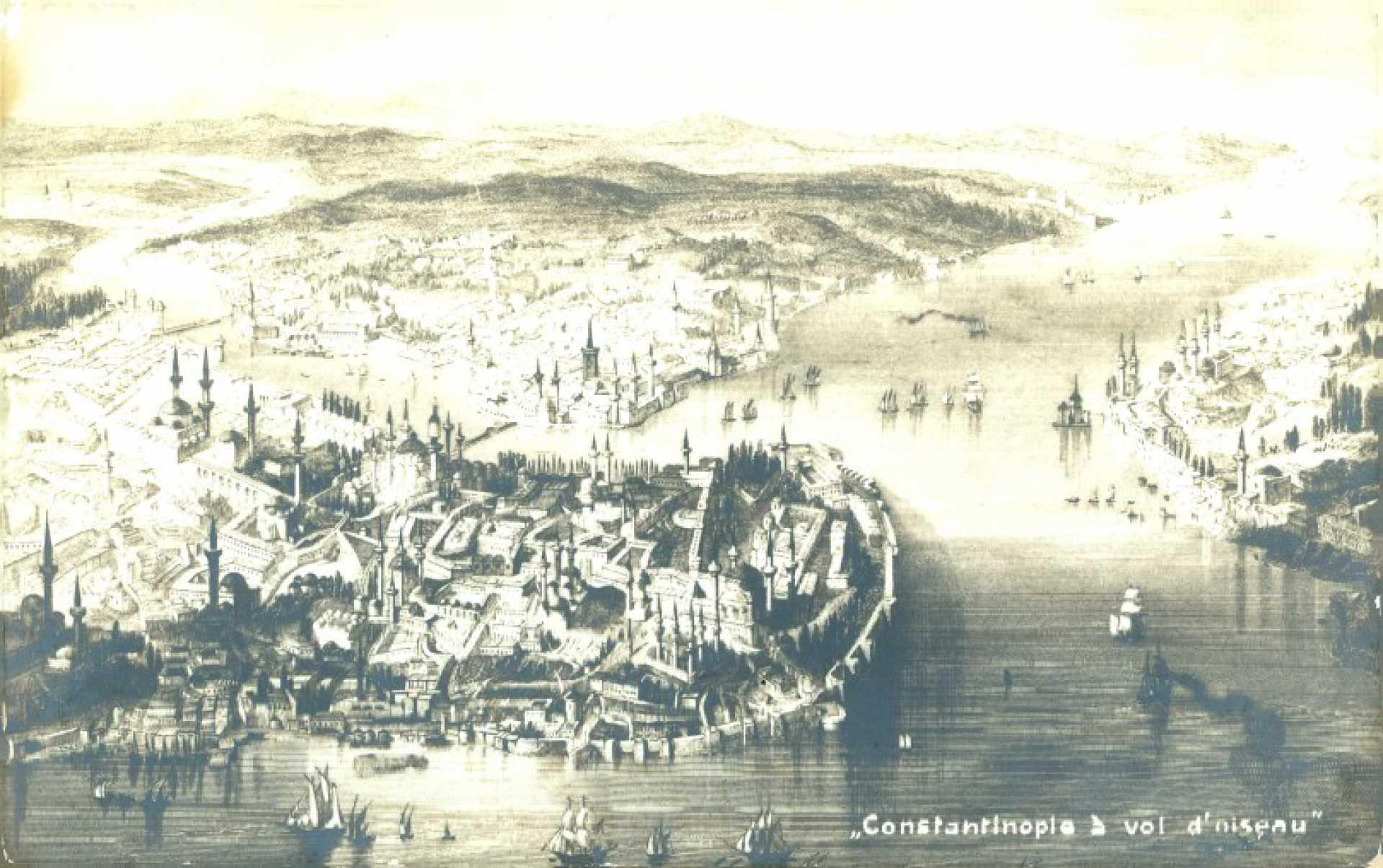Constantinople a vol d'oiseau