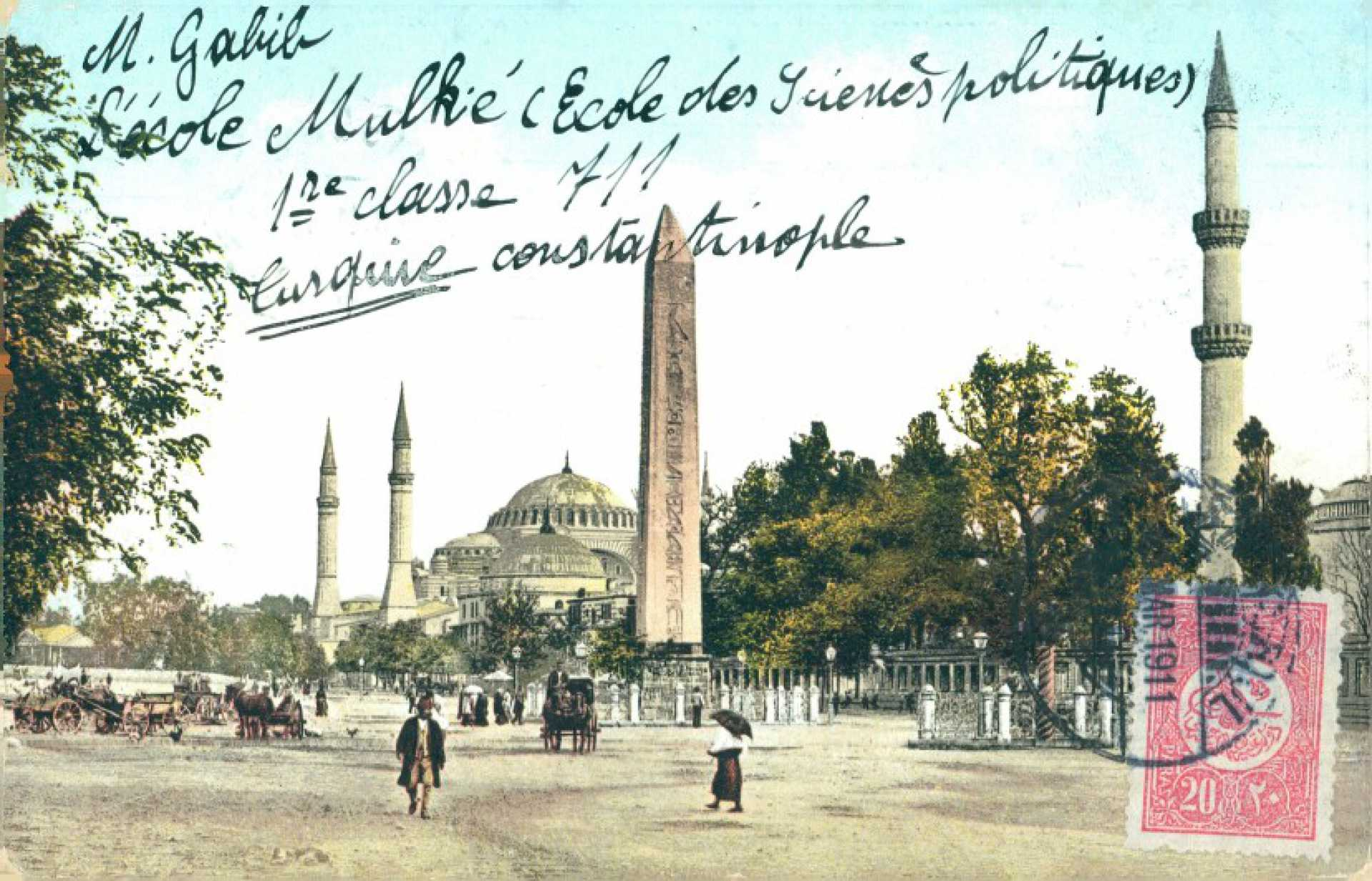 M. Gabib L'ecolo Mulkie  (Ecole des Scienes politiques) 1re classe 711 Turquie Constantinople