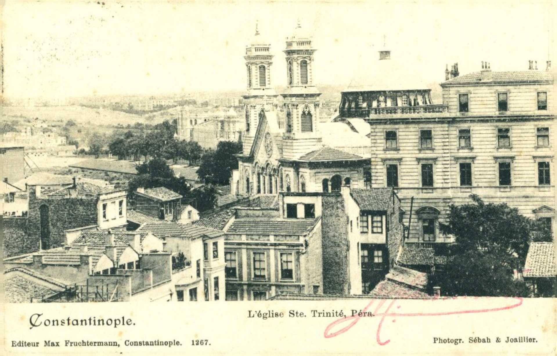 L'eglise Ste. Trinite. Pera. Constantinople