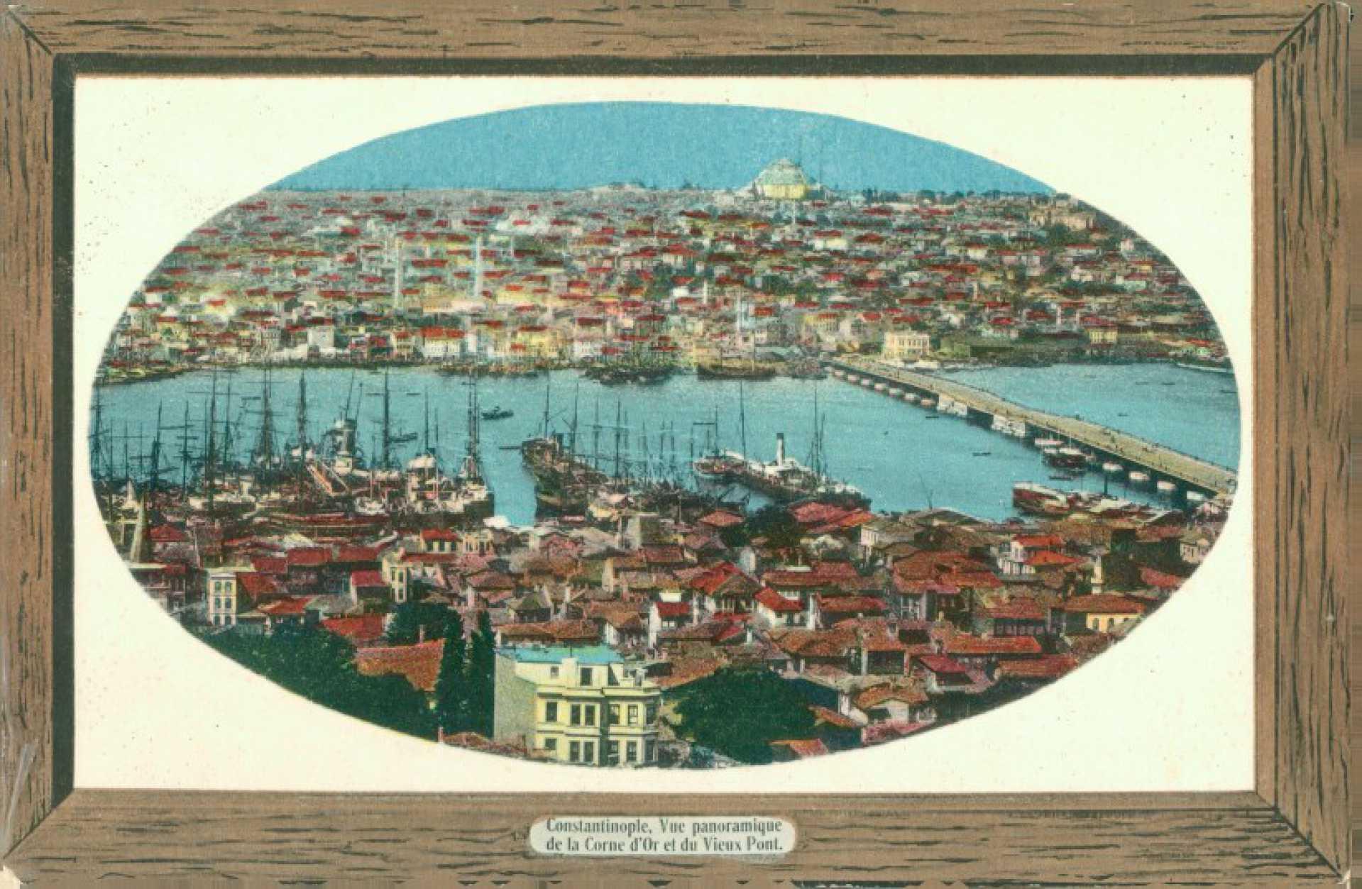 Constantinople. Vue panoramique de la Corne d'Or et du Vieux Pont