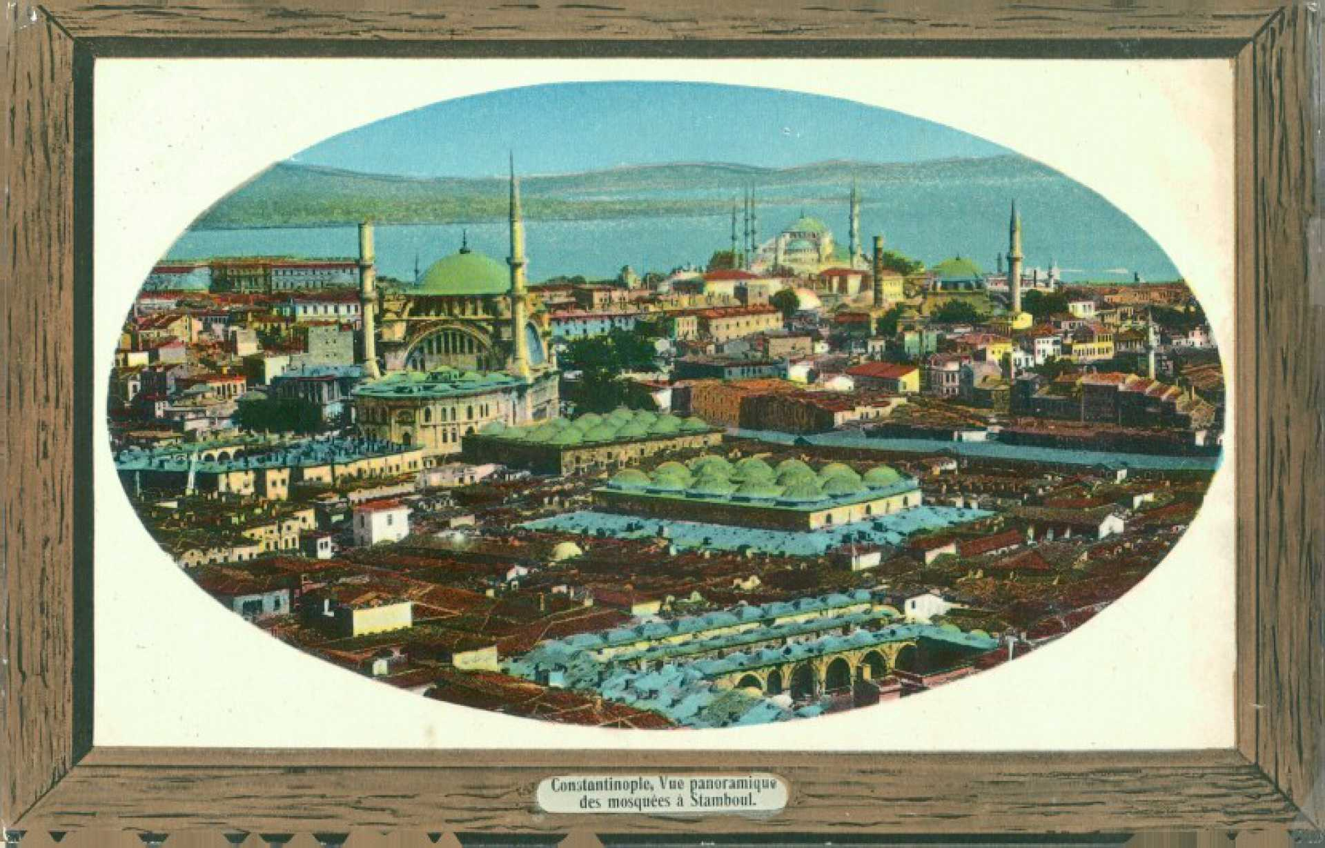 Constantinople. Vue panoramique des mosquees a Stamboul
