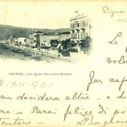 L.-J. & Cle. Angouleme. Date: 22.12.1901 Size: 14.4x9.5 cm. Italian. Smyrne [İzmir. Birahane]
