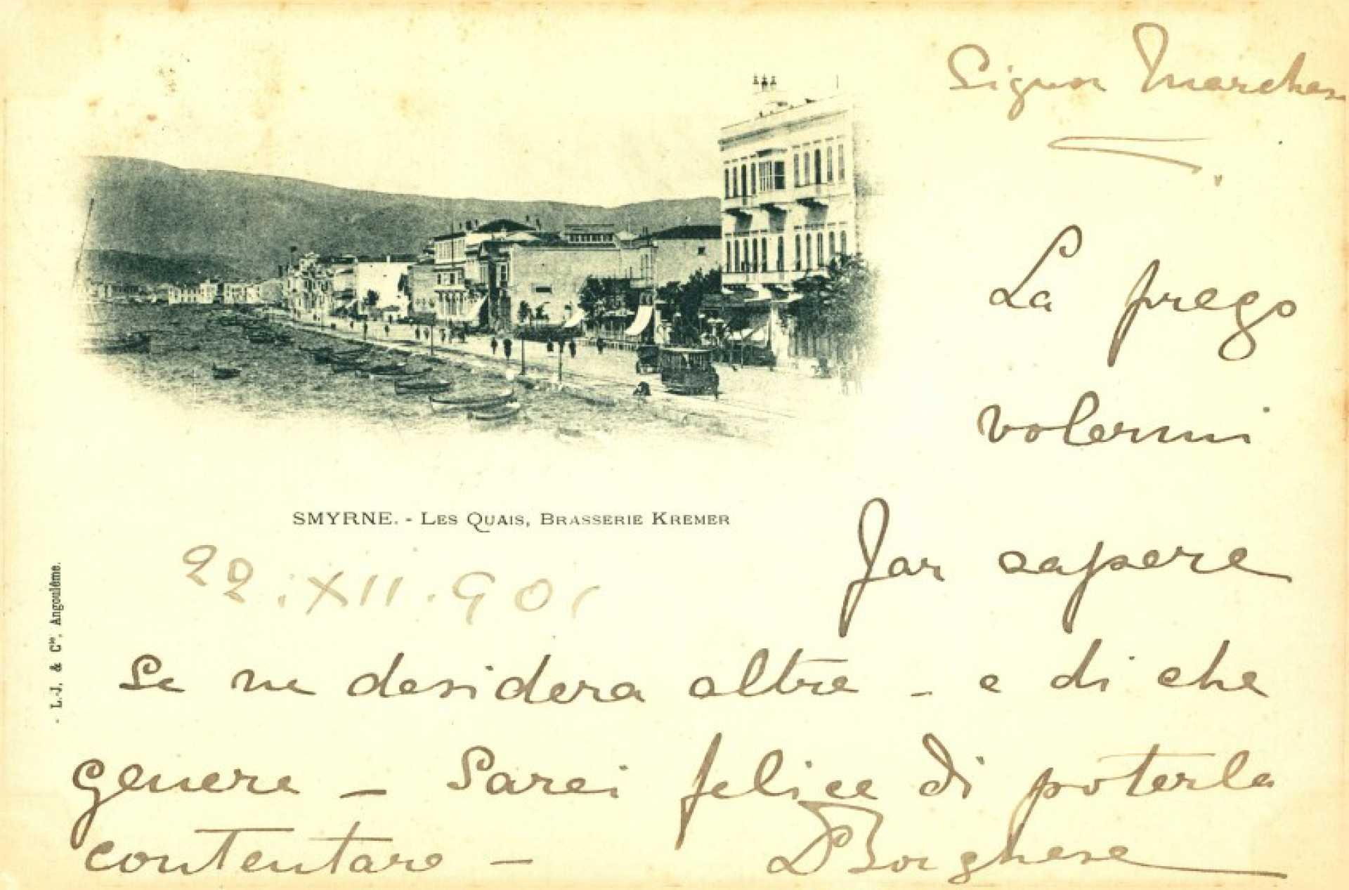 Smyrne – Les Quais. Brasserie Kremer