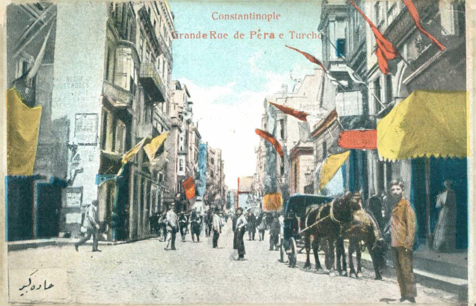 Constantinople Grande Rue de Pera e Turcho