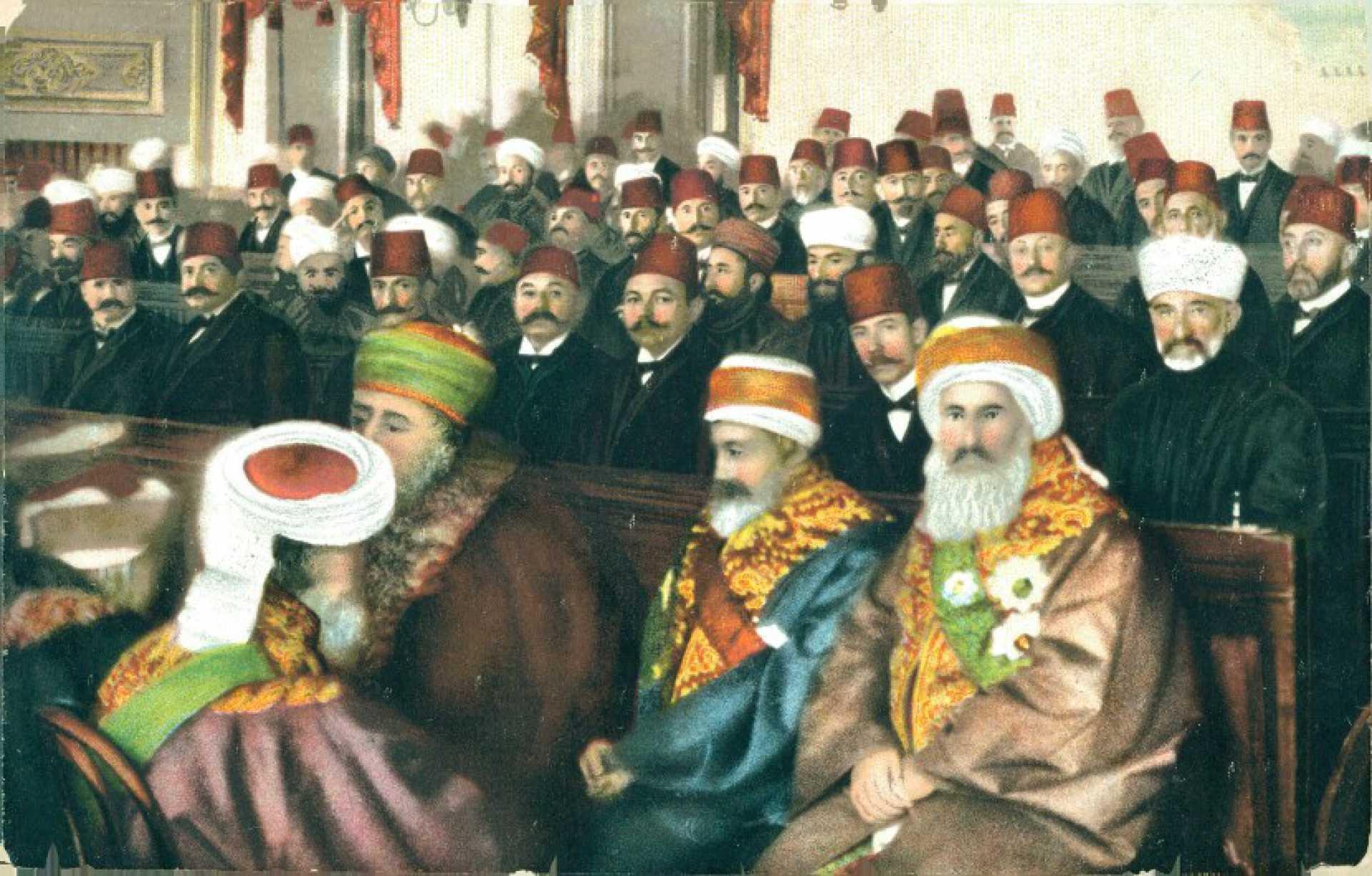 Constantinople. Les Deputes du Parlement Ottoman