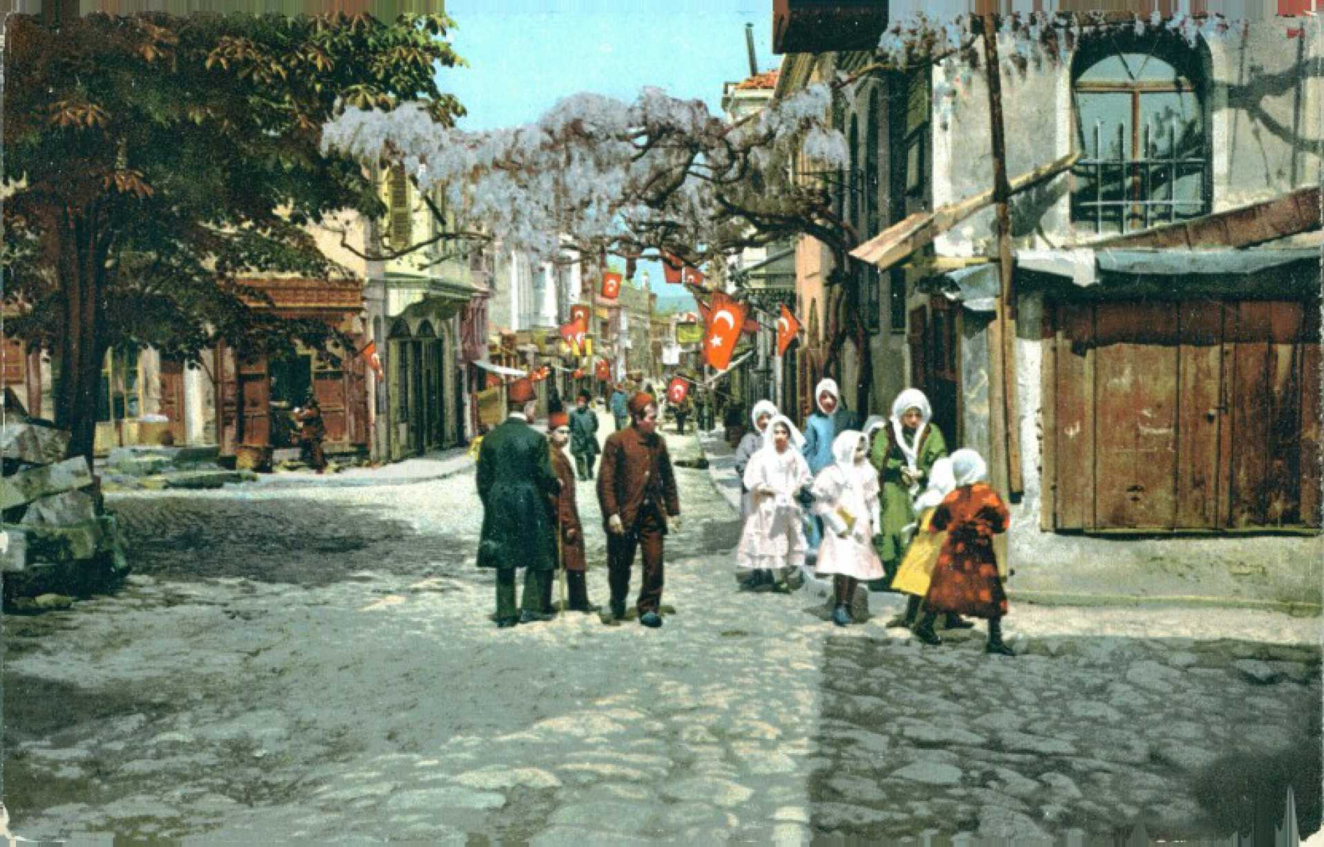 Constantinople. Un rue a Scutari