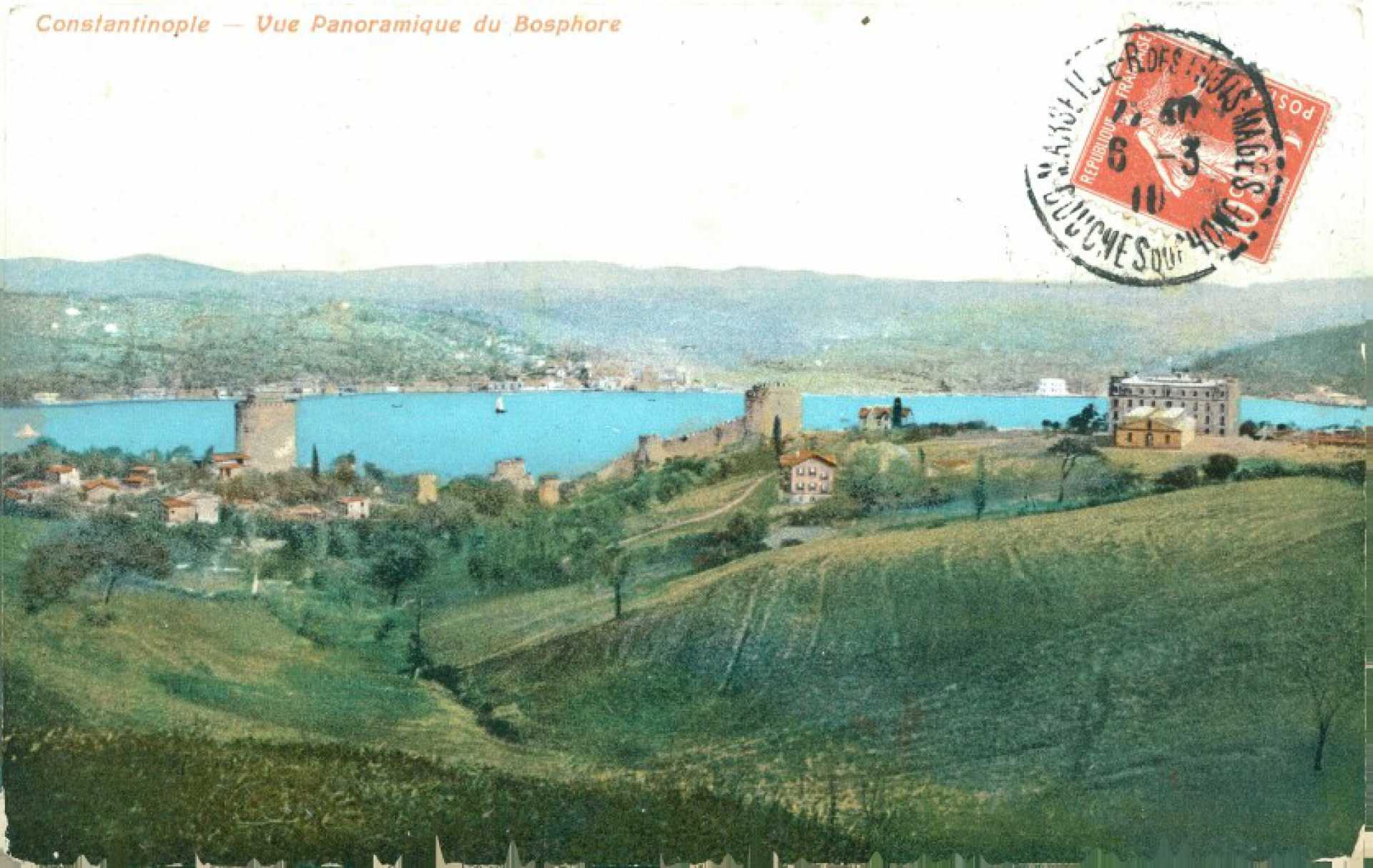 Constantinople. Vue Panoramique du Bosphore