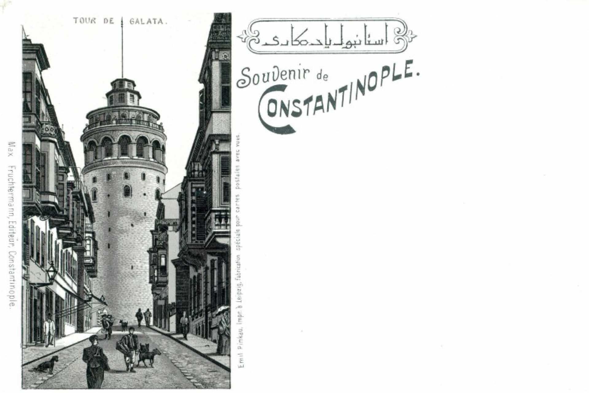 Souvenir de Constantinople. Tour de Galata
