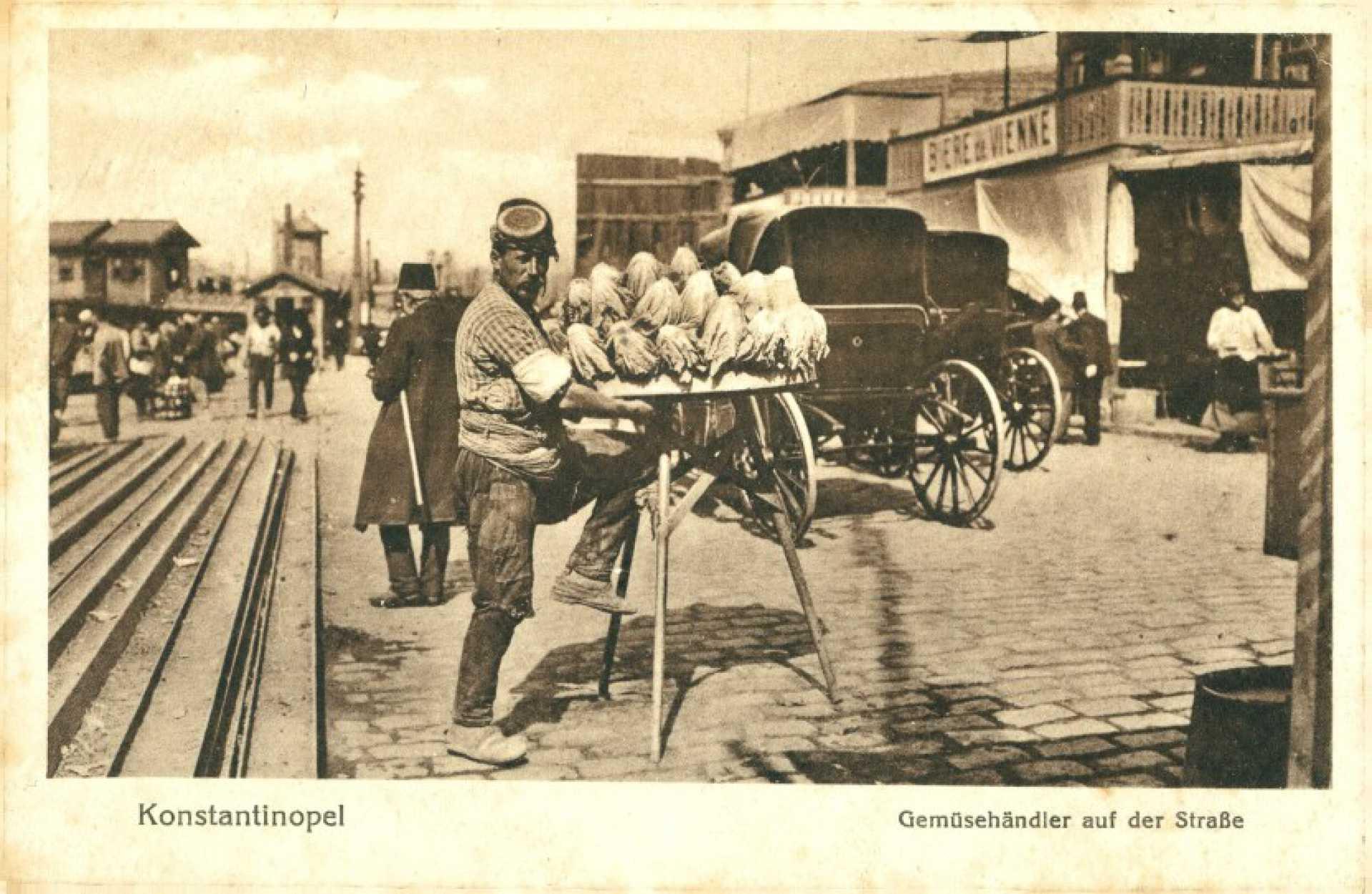 Konstantinopel. Gemüsehandler auf der Strabe
