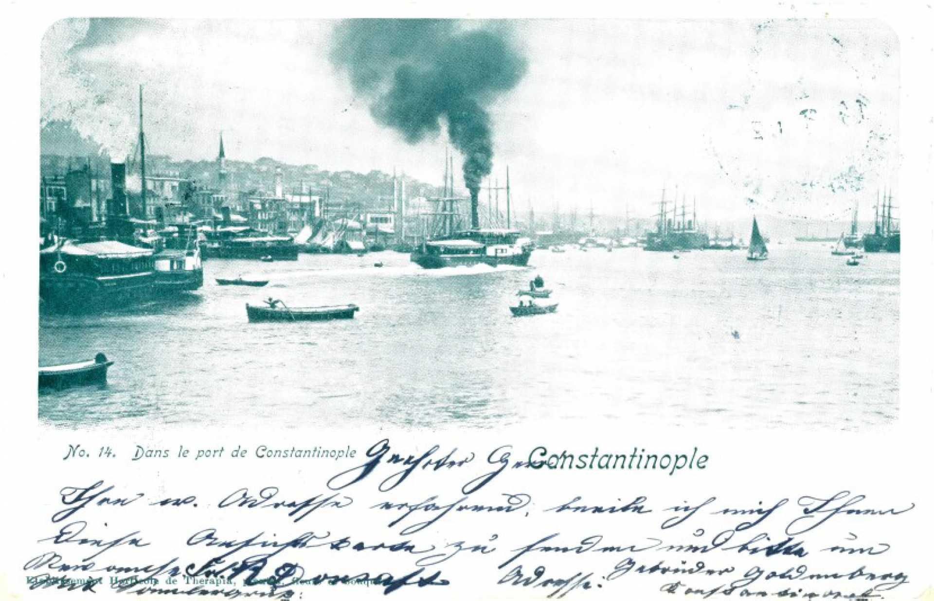 Constantinople. No. 14 Dans le port de Constantinople