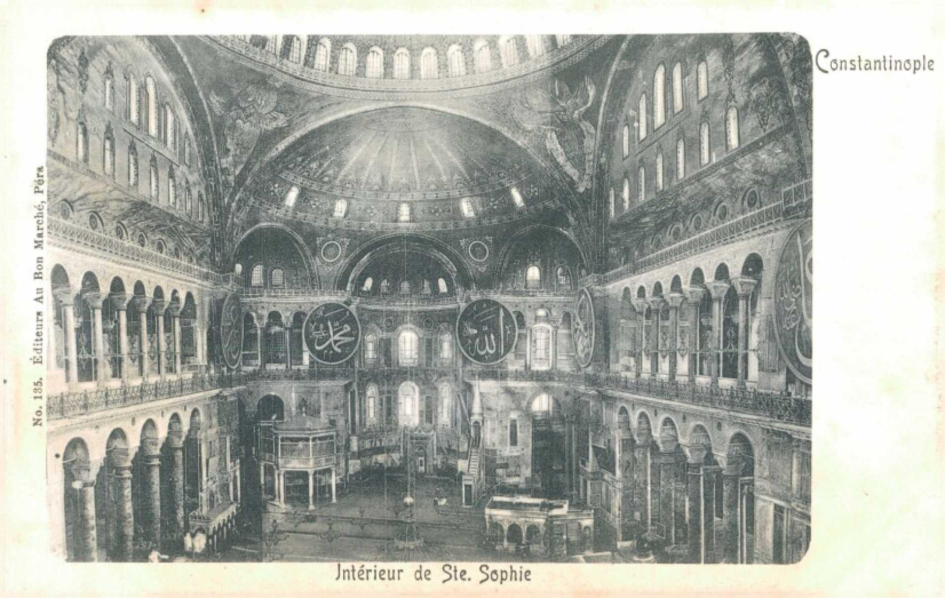 İnterieur de Ste. Sophie. Constantinople