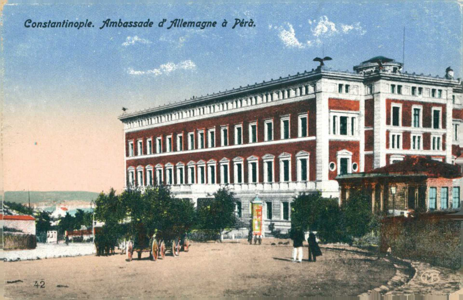Constantinople. Ambasade d'Allemagne a Pera