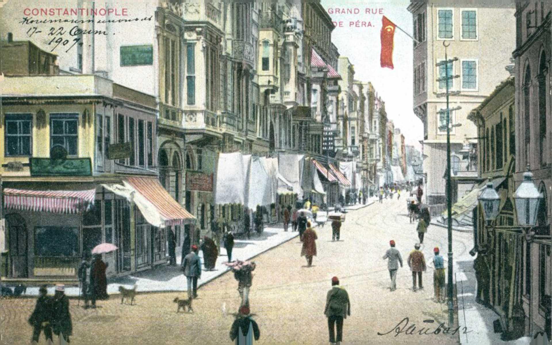 Grand Rue de Pera. Constantinople