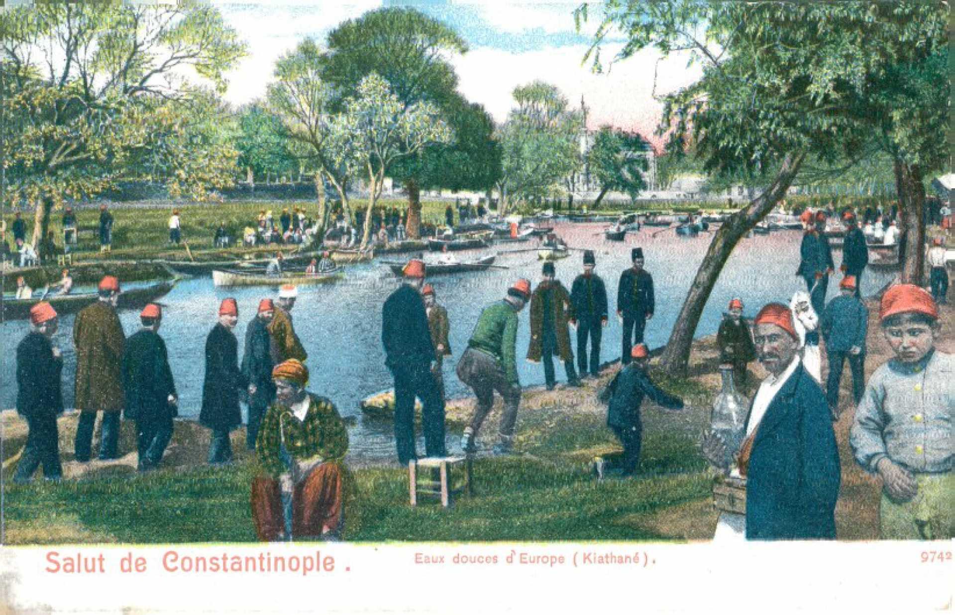 Salut de Constantinople. Eaux douces d'Europe (Kiathane)