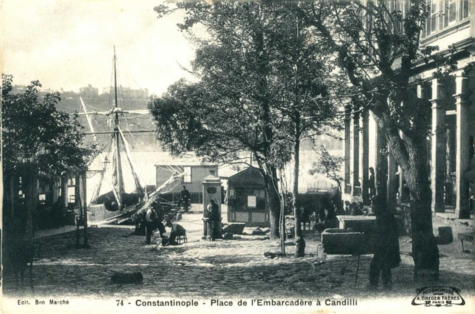 Constantinople – Place de l'Embarcadere a Candilli