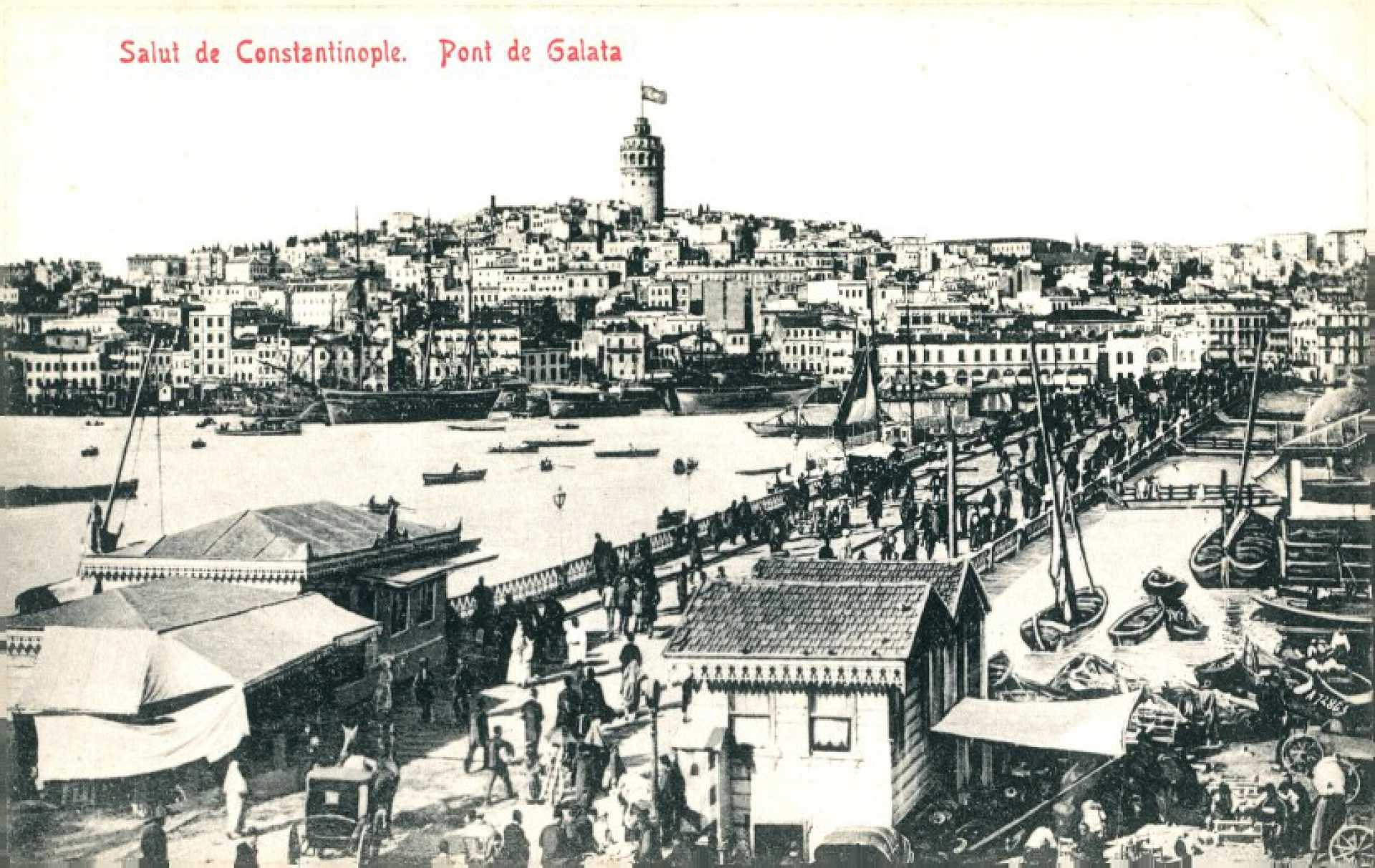 Salut de Constantinople. Pont de Galata