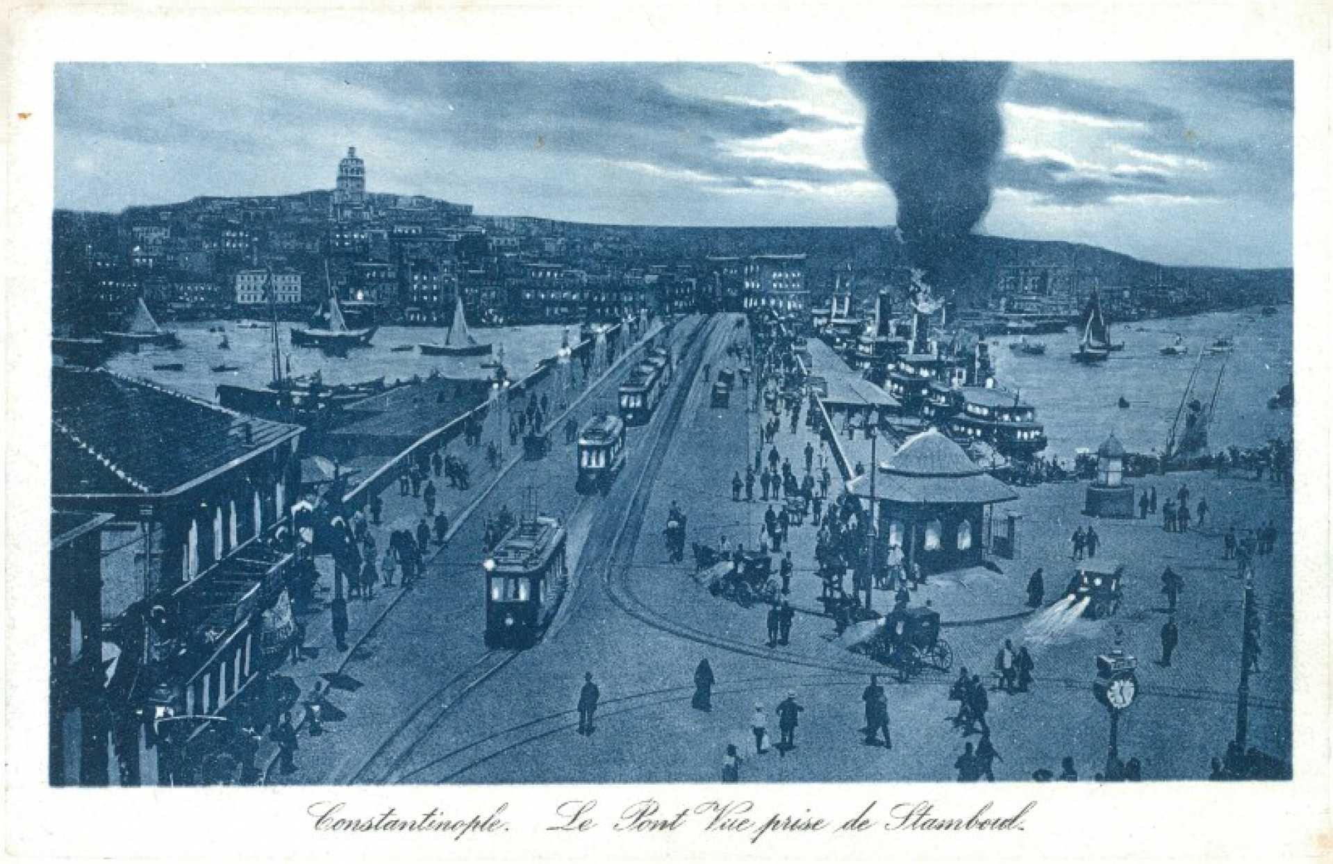 Constantinople. Le Pont Vue prise de Stamboul