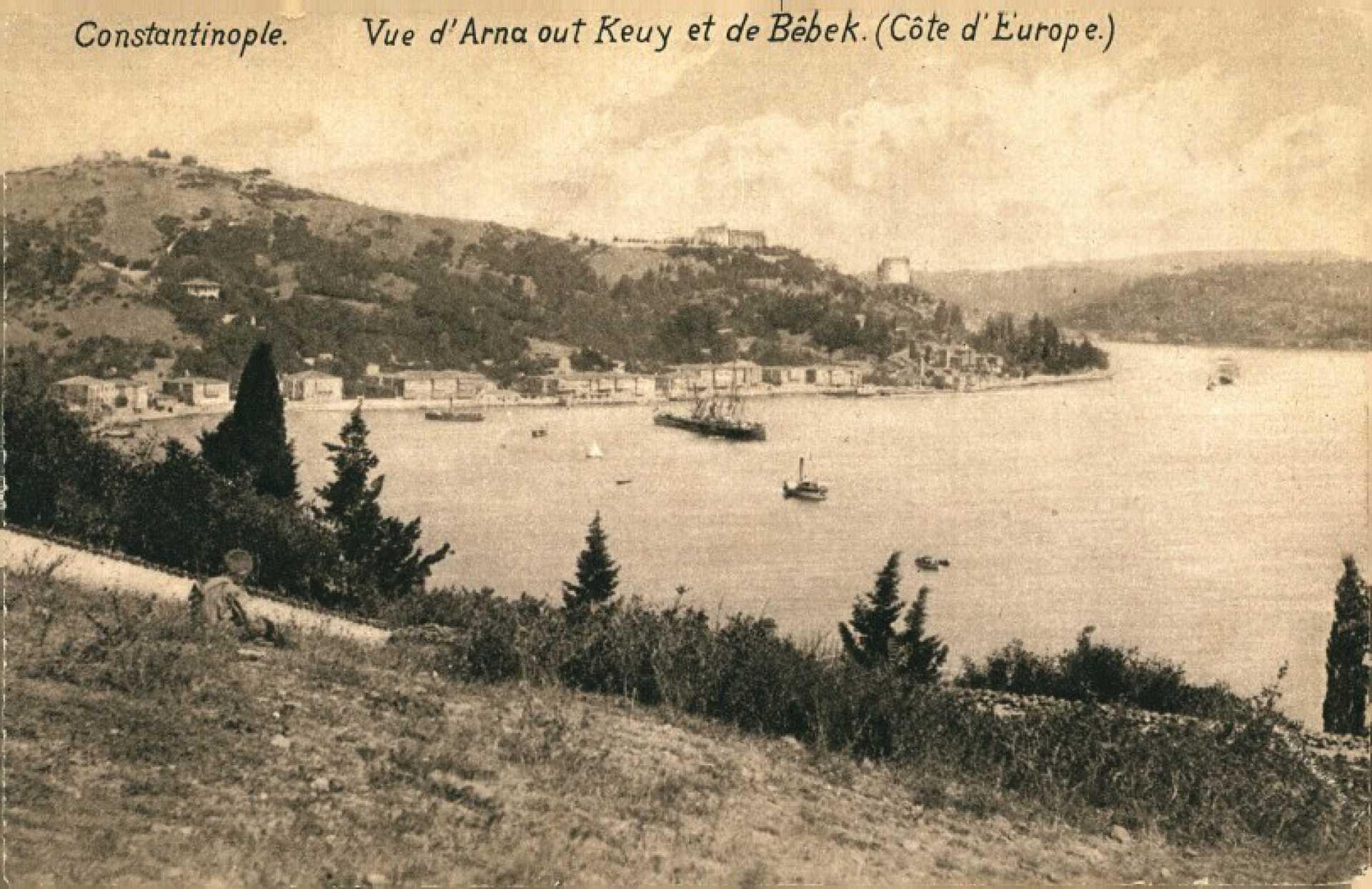 Vue d'Arnaout-keuy et de Bebek (Cote d'Europe)
