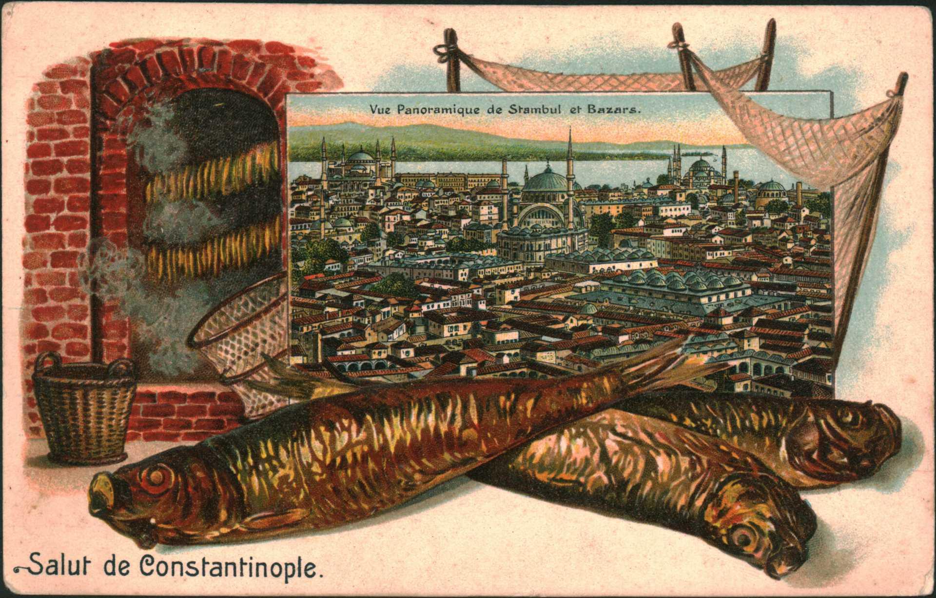 Vue Panoramique d Stambul et Bazars