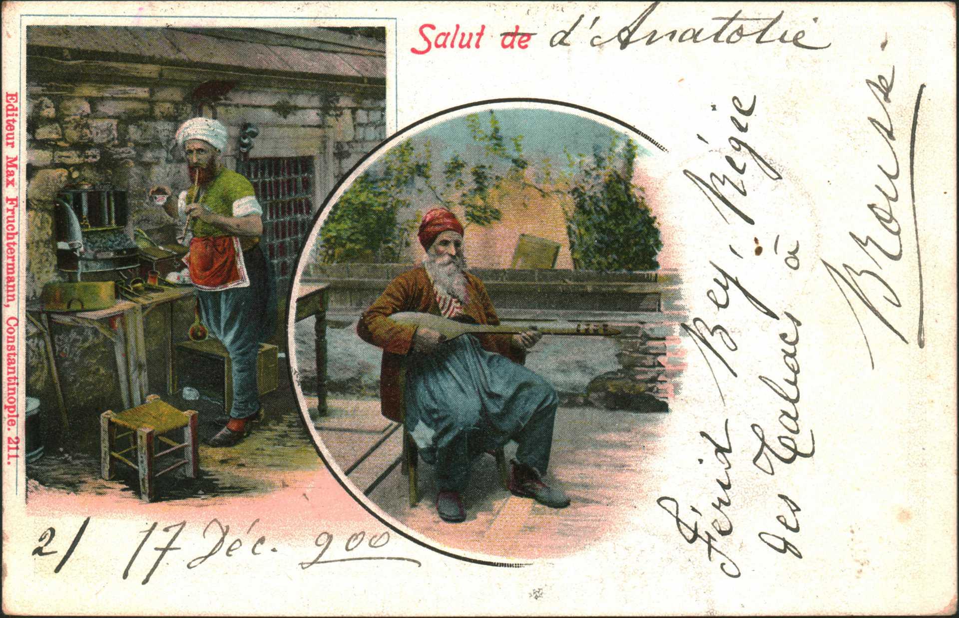 Salut de d'anatolie ve Union Postale Universelle