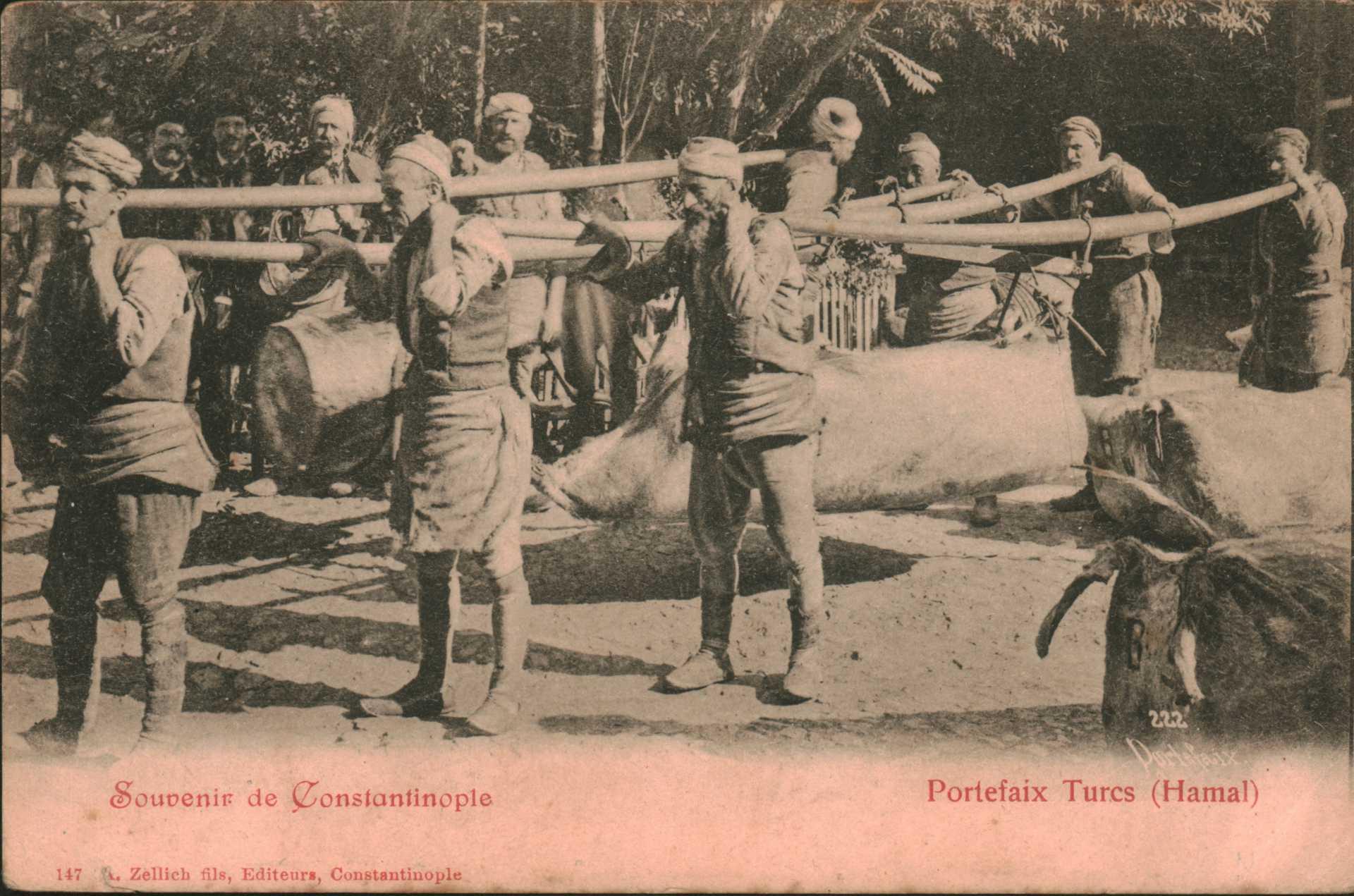 Souvenır De Constantinople-Portefaix turcs (Hamal)