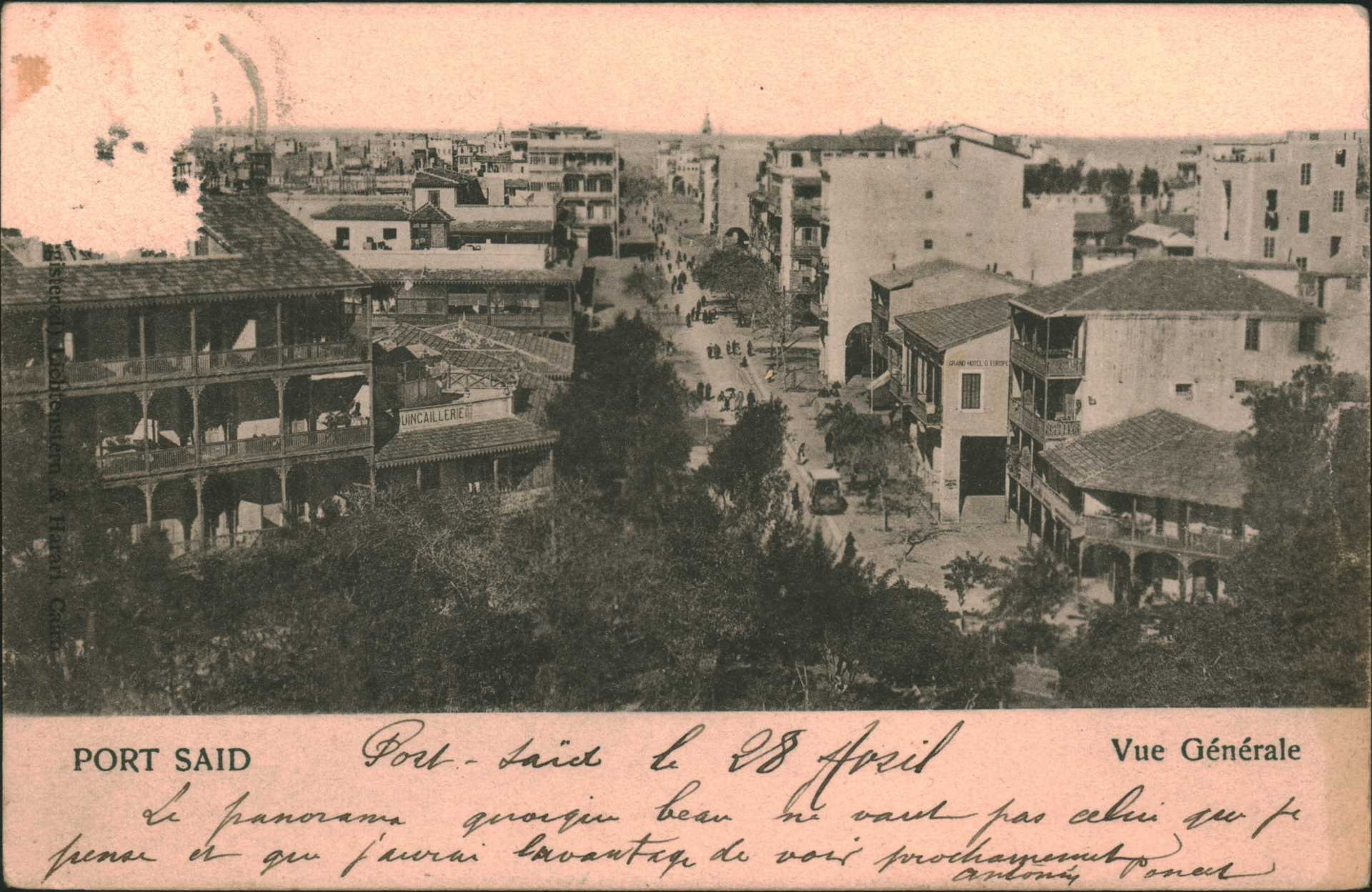 Port Saıd . Vue Generale