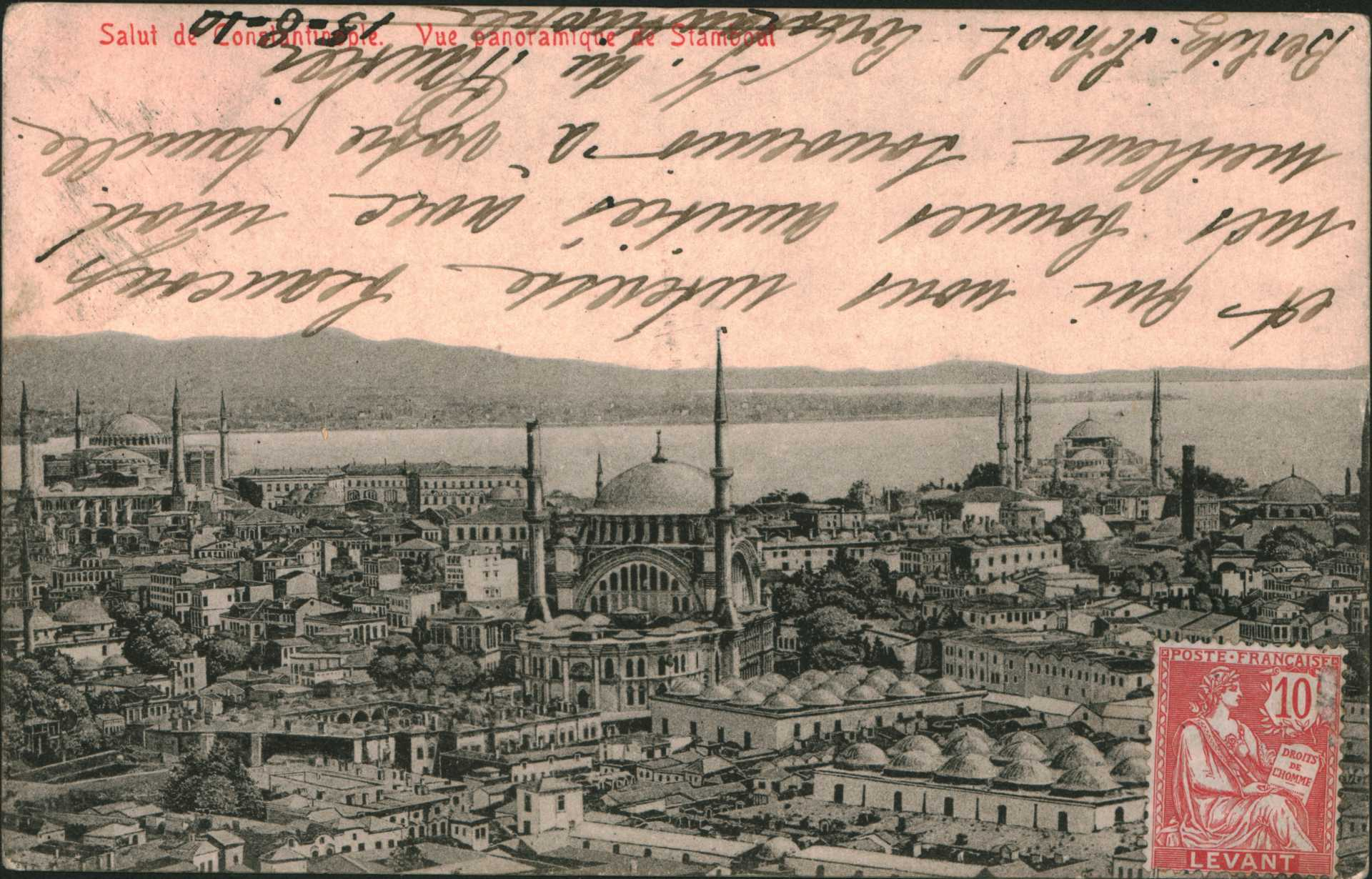 Salut de Constantinople. Vue panoramique Stamboul