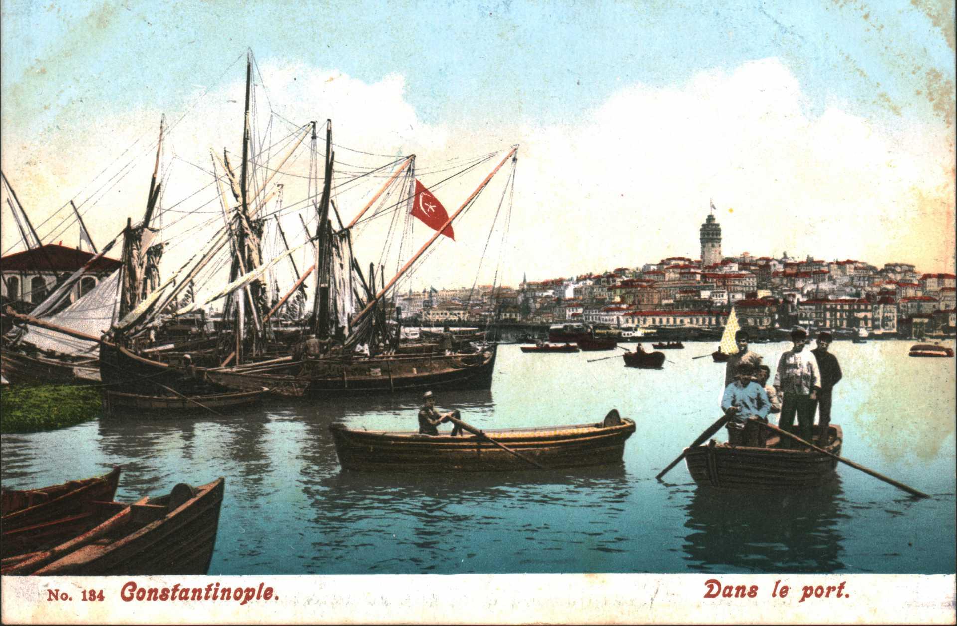 Constantinople. Dans le port