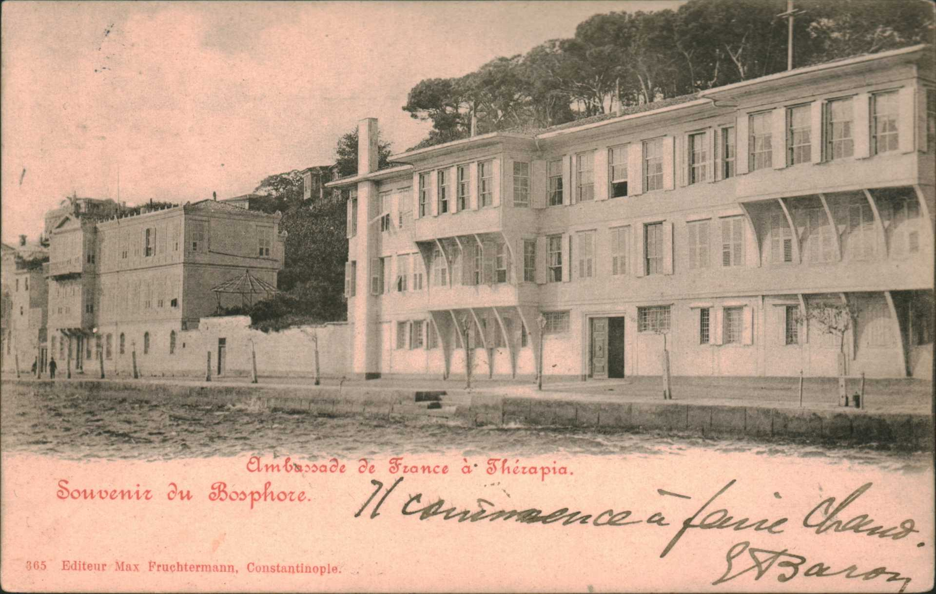 Ambassade de France a Therapia – Souvenir du Bosphore