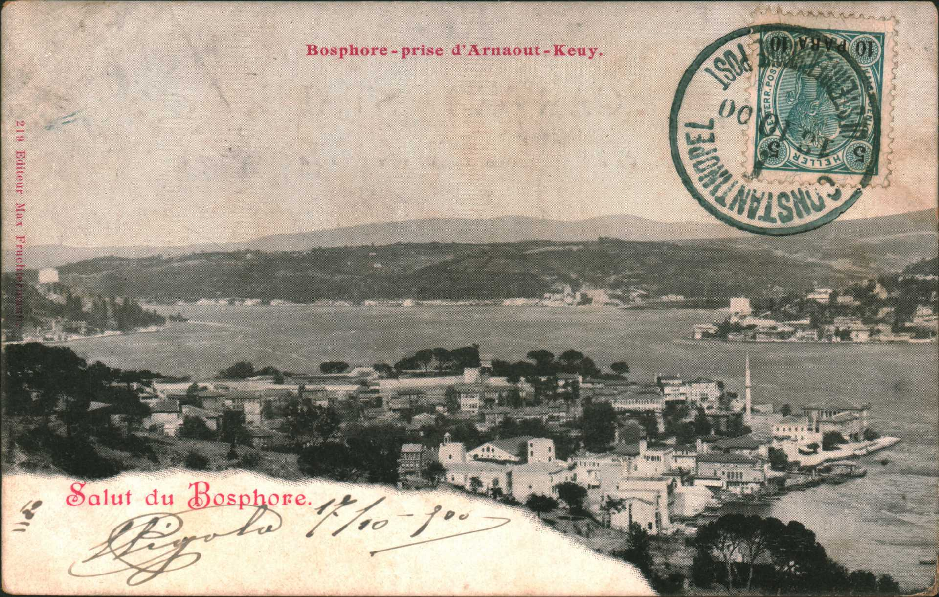 Bosphore-prise d'Arnaout-Keuy. Salut du Bosphore.