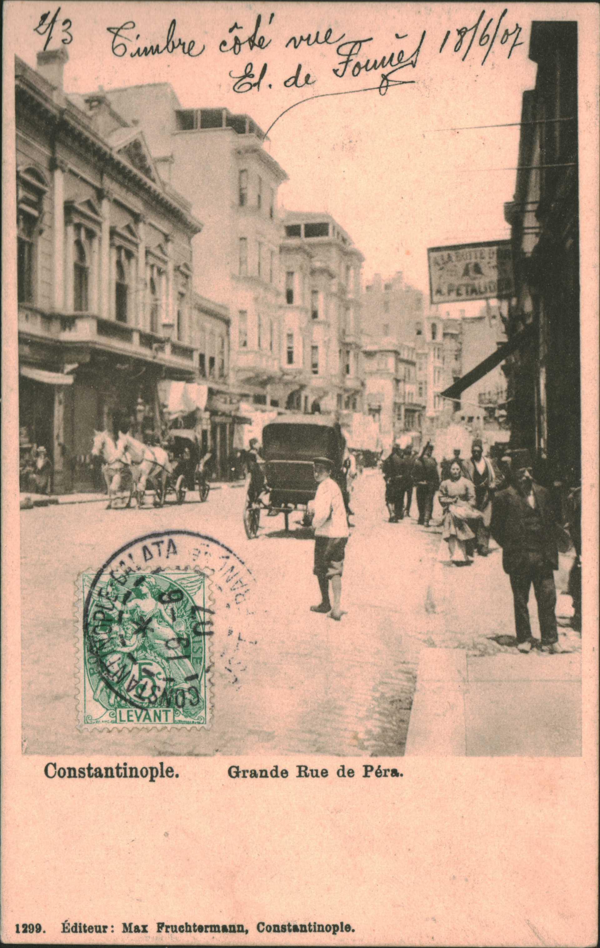 Constantinople. Grande Rue de Pera