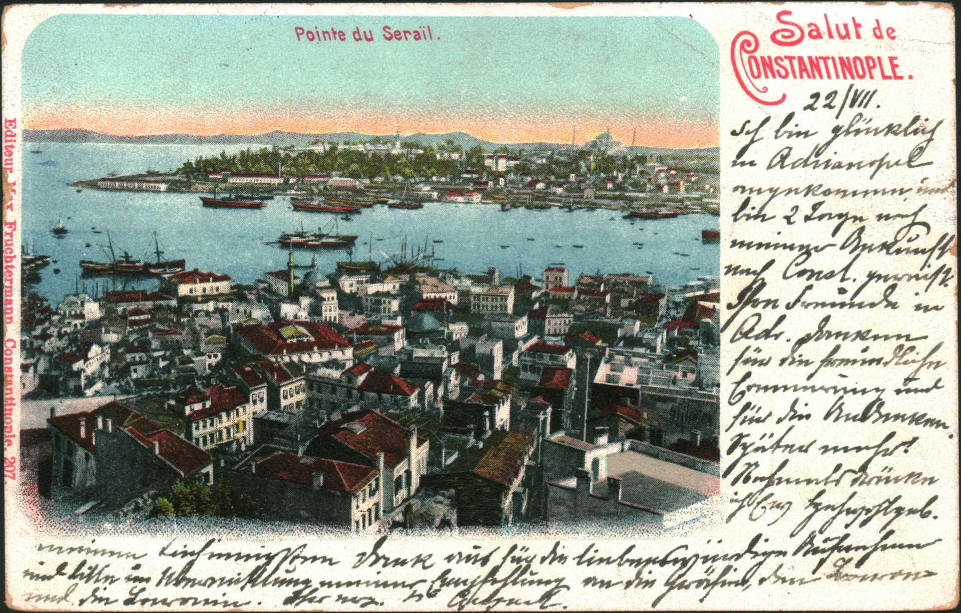Salut de Constantinople- Pointe du Serail