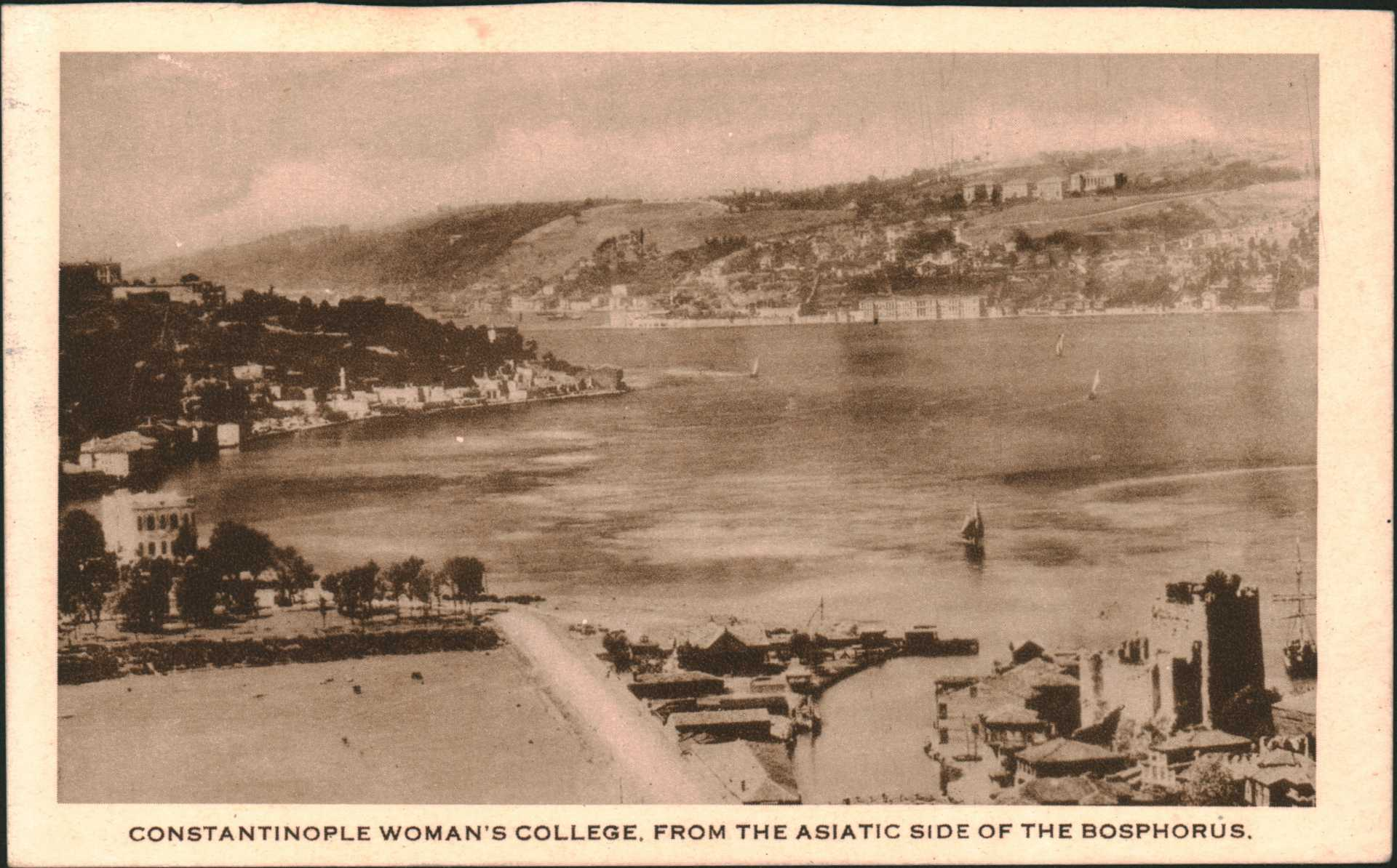 Constantinople Woman's College.From The Asıatıc Sıde Of The Bosphorus