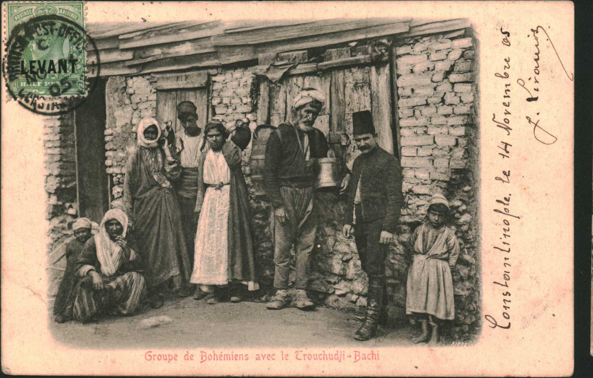 Groupe de Bohemiens avec le Trouchudji – Bachi