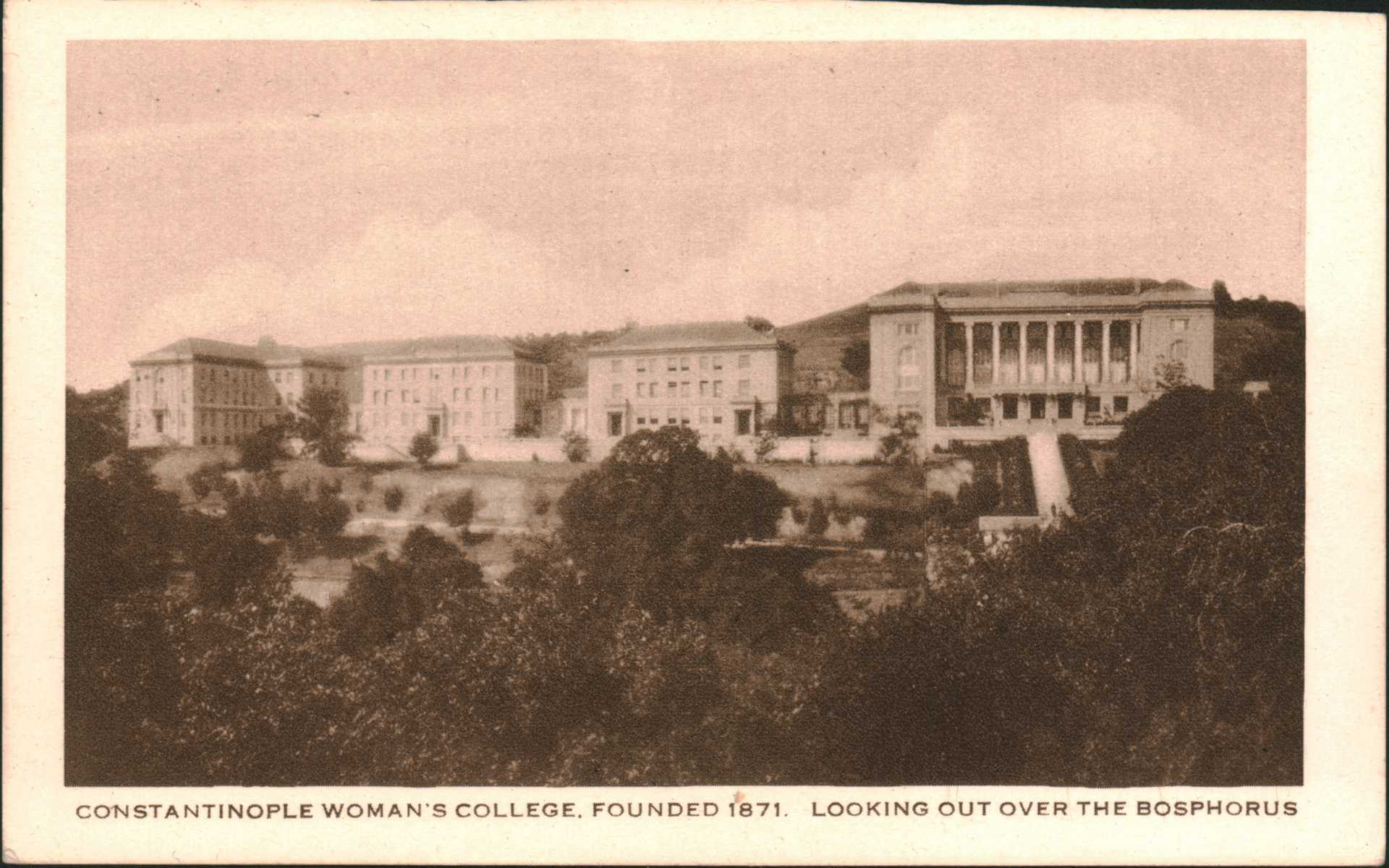 Constantinople Woman's College.Founded 1871. Looking Out Over The Bosphorus