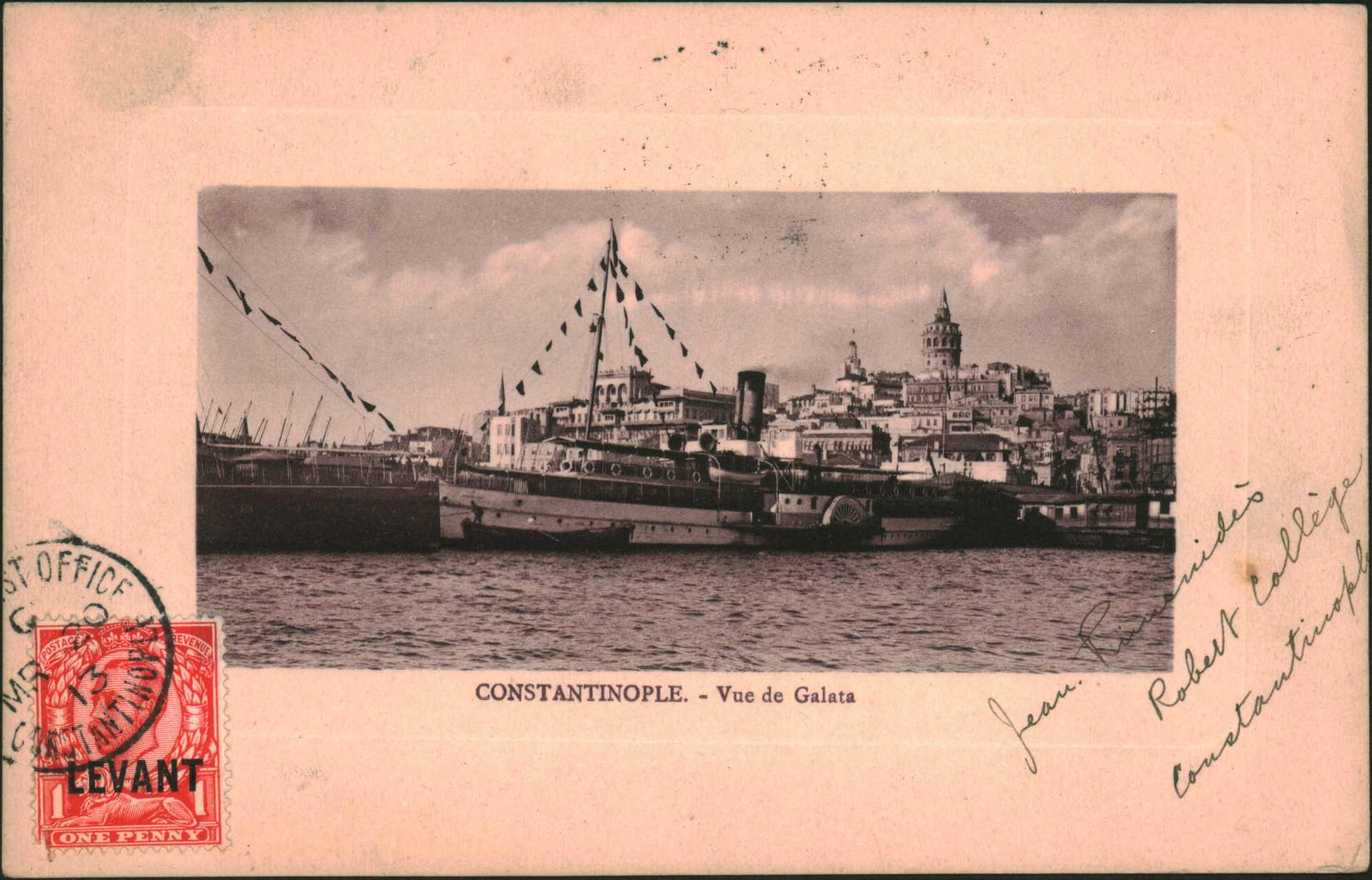 Constantinople – Vue de Galata