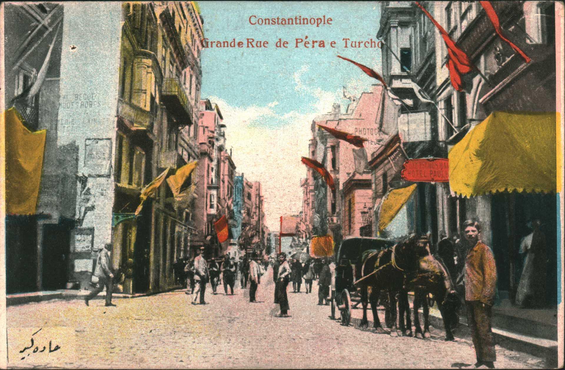 Constantinople. Grande Rue de Pera e Turcho